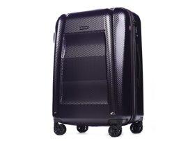 Duża walizka PUCCINI PC017 New York fioletowa