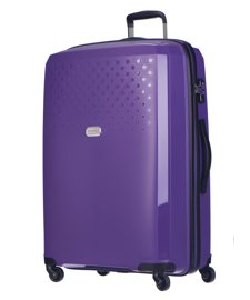 Duża walizka PUCCINI PP010 Havana fioletowa