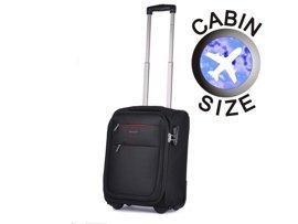 """Mała walizka """"MINI"""" PUCCINI EM-50307 D czarna"""
