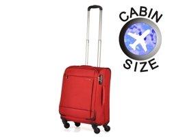 Mała walizka PUCCINI EM-50680 Ultralight Plus czerwona