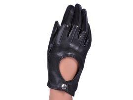 Rękawiczki damskie samochodowe -  PUCCINI D-15116 czarne