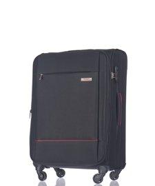 Średnia walizka PUCCINI EM-50720 Parma czarna