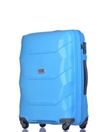 Średnia walizka PUCCINI PP011 Miami niebieski