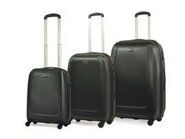 Zestaw trzech walizek PUCCINI ABS01 ABC czarny
