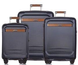 Zestaw trzech walizek PUCCINI PC020 Stockholm granatowy