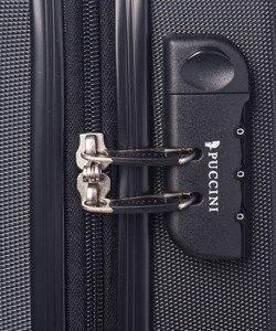 Mała walizka PUCCINI ABS03 Paris czarna