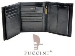 Portfel męski PUCCINI P-1698 czarny
