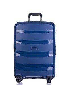 Średnia walizka PUCCINI PP012 Acapulco granatowa