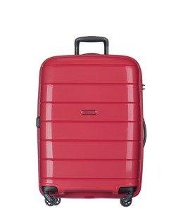 Średnia walizka PUCCINI PP013 Madagaskar czerwona