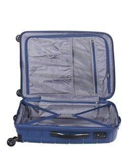 Średnia walizka PUCCINI PP013 Madagaskar granatowa